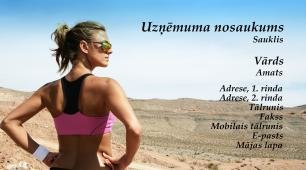 #995915 vizītkartes paraugs sports un fitness